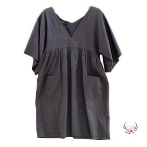 Isabel Marant Etoile Grey Deep V-Neck Dress